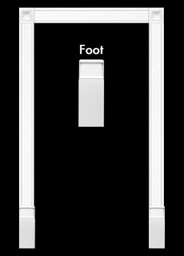 Door Surround 1 with Feet - Kit KX003